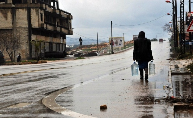 Water supplies in Syria cut by a third